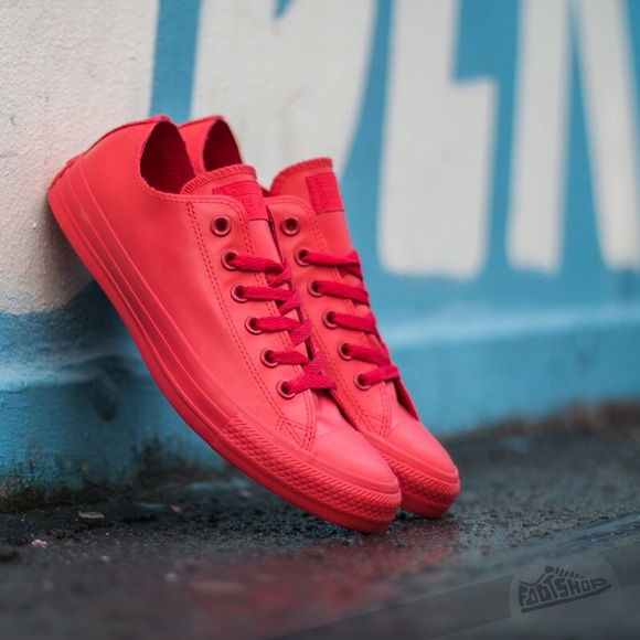 ee10cce9a99 Converse Shoes - Converse All Star Ox Red Rubber Low Top Chucks